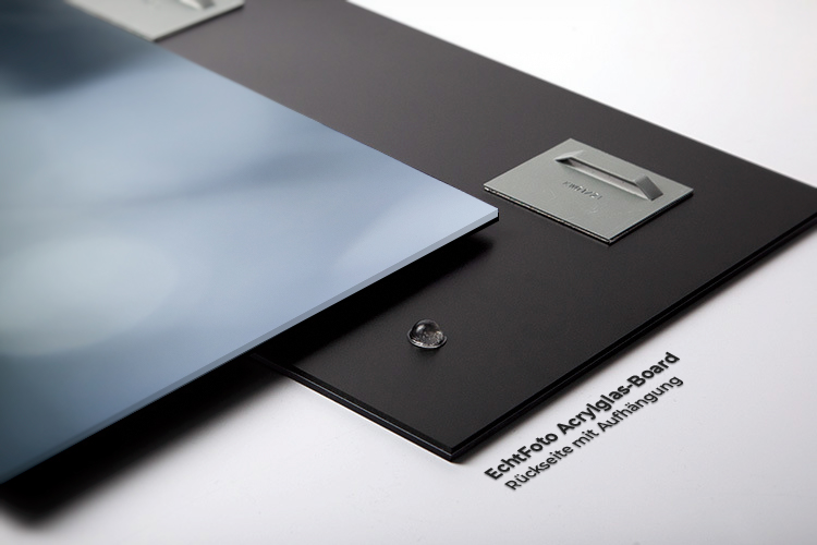 Acrylglas Board Rückseite Detail Bild