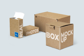 Packaging box mockup, Schachtel Vorlage, blank boxes