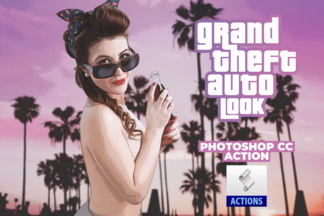 GTA Look Action Photoshop Download Grand Theft Auto